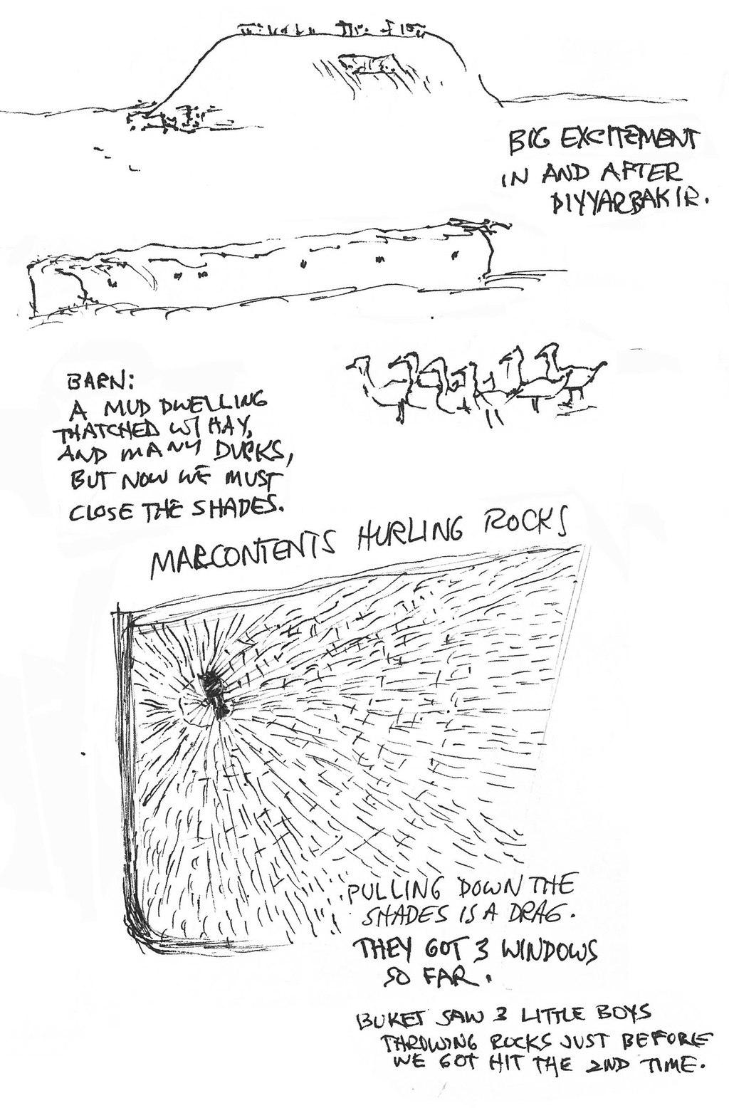 Malcontents Hurling Rocks